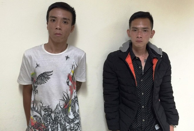 Hai đối tượng Tú và Nam đã bị cơ quan Công an bắt giữ