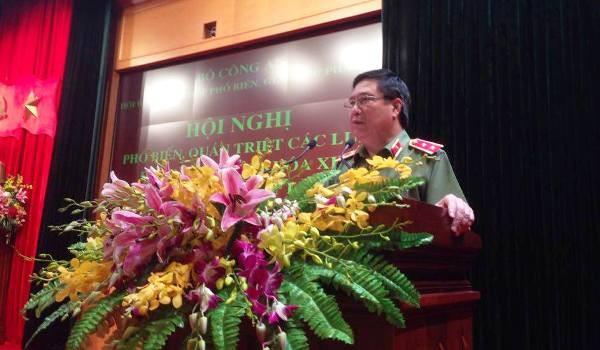 Trung tướng Nguyễn Ngọc Anh, Cục trưởng Cục Pháp chế và cải cách hành chính, tư pháp (Bộ Công an) giới thiệu sơ lược một số nội dung cơ bản các điều luật