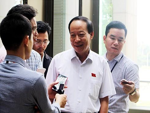 Thượng tướng Lê Quý Vương, Thứ trưởng Bộ Công an trả lời báo chí bên hành lang Quốc hội