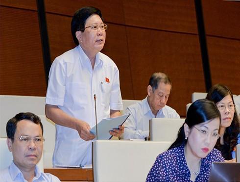 ĐBQH Cao Đình Thưởng phát biểu tại hội trường