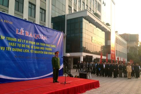 Thượng tá Hoàng Văn Phước – Phó trưởng CAQ, Phó trưởng Ban thường trực 197 đã phát lệnh ra quân