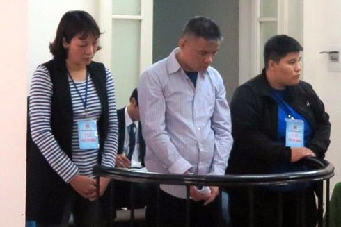 Các bị cáo tại phiên xử diễn ra ngày 9-1