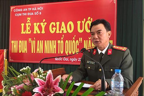 Đại tá Nguyễn Anh Tuấn phát biểu chỉ đạo buổi lễ