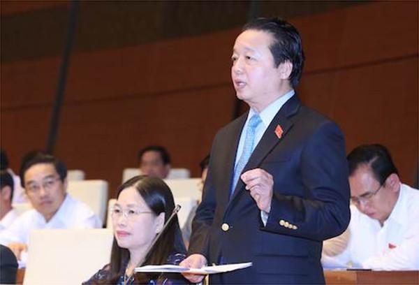 Bộ trưởng Bộ TN&MT Trần Hồng Hà giải trình các ý kiến của ĐBQH