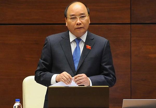Thủ tướng Nguyễn Xuân Phúc trả lời câu hỏi của ĐBQH