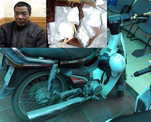 Đối tượng Hải cùng tang vật liên quan đến hai vụ mua, bán ma túy do CAP Ngọc Khánh triệt phá vào ngày 20-12-2017 vừa qua