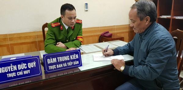 CAP Ngọc Khánh tiếp nhận thông tin của công dân