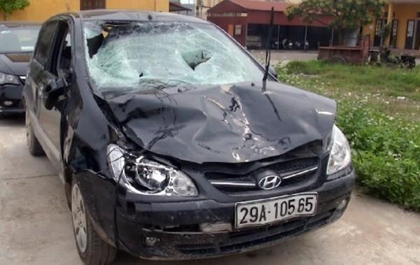 Chiếc xe do Quyền điều khiển được xác định của Chủ tịch xã Trung Nghĩa, TP Hưng Yên