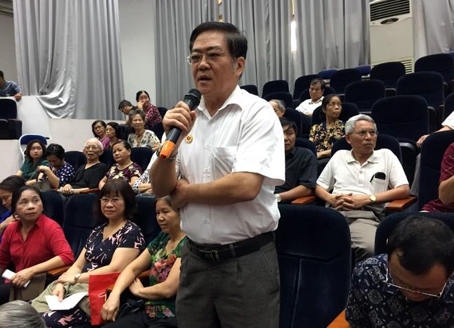 Ông Nguyễn Mạnh Hảo nêu ý kiến đóng góp cho CAP Điện Biên