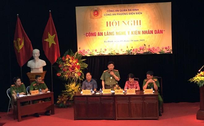 """CAP Điện Biên tổ chức hội nghị """"Công an lắng nghe ý kiến nhân dân"""""""