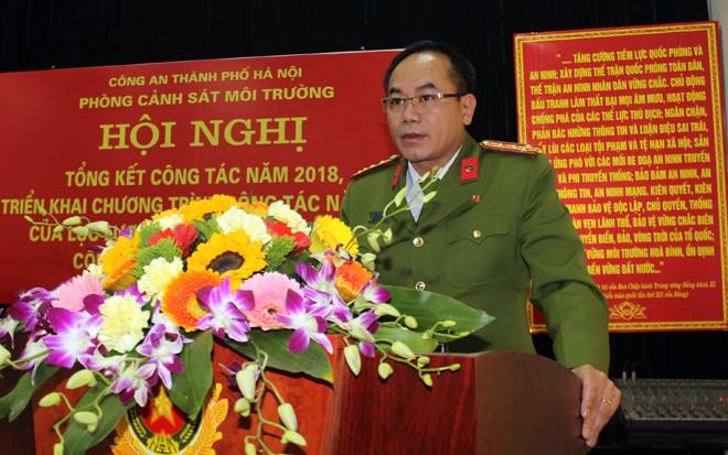 Đại tá Nguyễn Thanh Tùng, Phó giám đốc CATP phát biểu chỉ đạo hội nghị