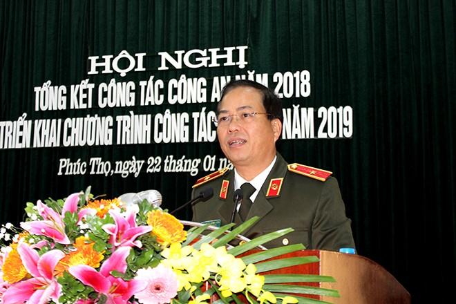 Thiếu tướng Đoàn Ngọc Hùng, Phó giám đốc CATP phát biểu chỉ đạo