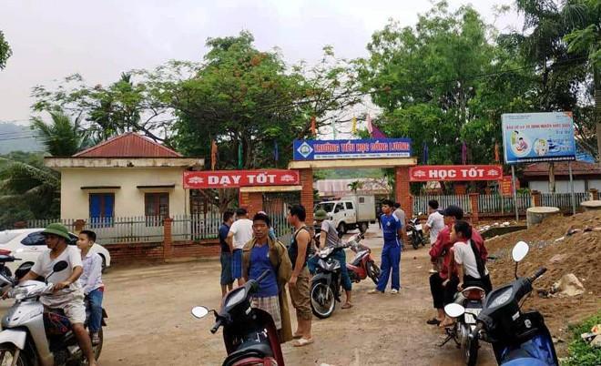 Trường tiểu học xã Đồng Lương, nơi Minh đột nhập dùng dao tấn công học sinh và giáo viên khiến một người tử vong