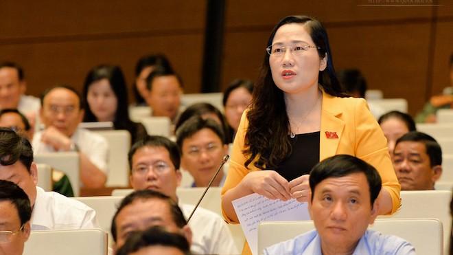 ĐB Nguyễn Thị Thuỷ cho rằng, việc tổ chức cho phạm nhân lao động không những nhằm cải tạo họ mà góp phần hoàn thiện mục tiêu tái hoà nhâp cộng đồng.