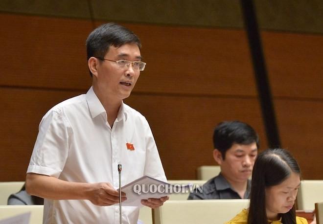 Đại biểu Hoàng Quang Hàm, Đoàn ĐBQH tỉnh Phú Thọ phát biểu.