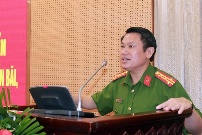 Đại tá Nguyễn Văn Viện – Phó giám đốc CATP Hà Nội chủ trì, phát biểu tại hội nghị