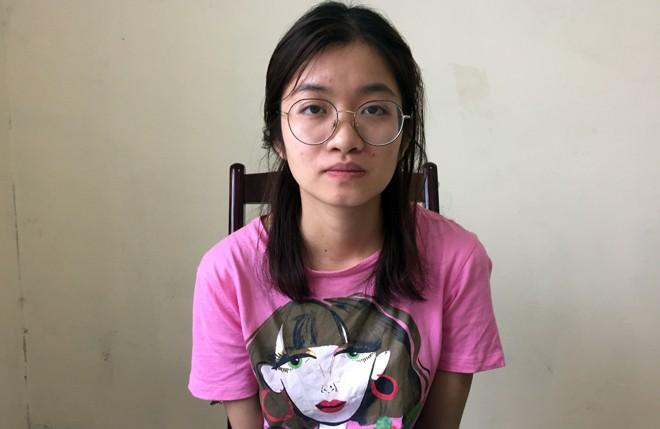 Đối tượng Phạm Thị Thanh Thư tại cơ quan Công an