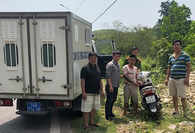 Đối tượng Tuấn bị bắt giữ sau chưa đầy nửa giờ đồng hồ trộm cắp rồi bỏ trốn