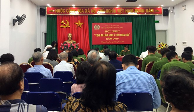 """Hội nghị """"Công an lắng nghe ý kiến nhân dân"""" năm 2019 do CAP Nguyễn Trung Trực tổ chức vào sáng 10/10"""