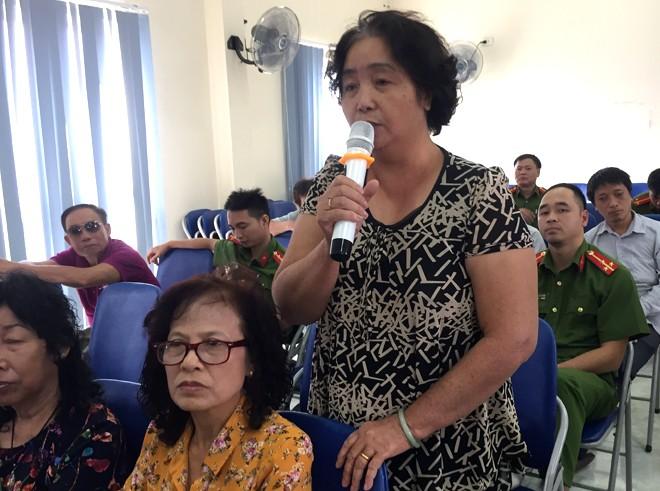 Bà Chử Thị Ngọc Hiền chia sẻ tâm tư nguyện vọng của mình khi nói về lực lượng CAP phường Kim Mã