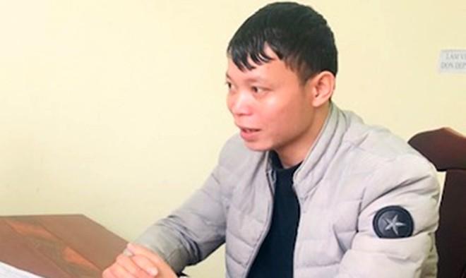 Lý Văn Quang tại cơ quan Công an