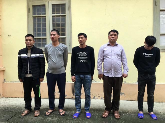 Nhóm đối tượng tham gia đánh bạc bị CAH Tam Dương bắt quả tang