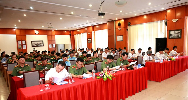 Hội nghị tổng kết 3 năm ký quy chế phối hợp giữa CATP Hà Nội với TCT QLB VN vào sáng nay 8-7