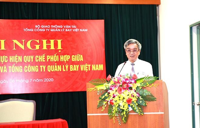 Ông Lê Quốc Khánh - Phó Tổng Giám đốc TCT QLB VN phát biểu tại hội nghị