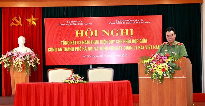 Thiếu tướng Nguyễn Anh Tuấn – Phó Giám đốc CATP phát biểu tại hội nghị
