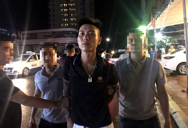 Đối tượng Đỗ Tiến Thịnh bị bắt giữ sau khi gây án rồi bỏ trốn