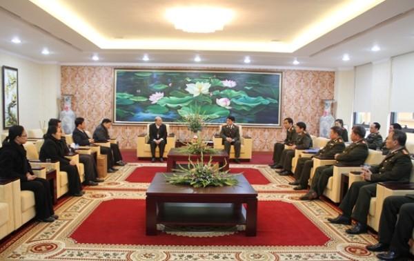 Giám đốc CATP chủ trì buổi đón tiếp đoàn chức sắc Tòa Giám mục Giáo phận Hưng Hóa