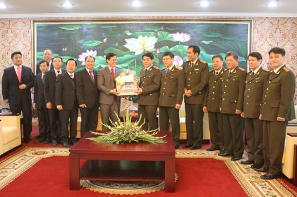 Mục sư Nguyễn Hữu Mạc chúc mừng năm mới Công an Hà Nội