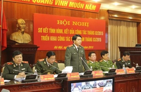 Thiếu tướng Nguyễn Đức Chung - Giám đốc CATP phát biểu chỉ đạo hội nghị