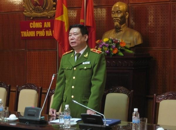 Thiếu tướng Đinh Văn Toản phát biểu chỉ đạo hội nghị