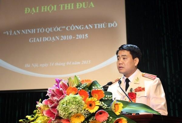 Thiếu tướng Nguyễn Đức Chung - Giám đốc CATP phát biểu tại hội nghị
