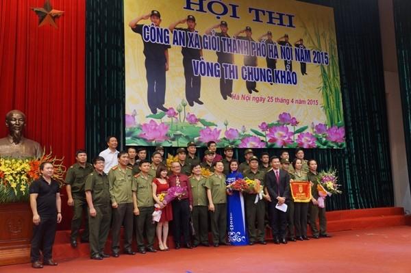 Đội Đông Anh giành giải Nhất hội thi Công an xã giỏi năm 2015 ảnh 2