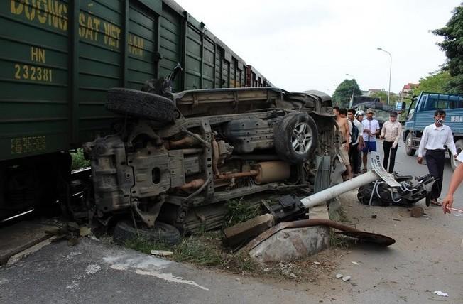 Một phần hiện trường vụ tai nạn