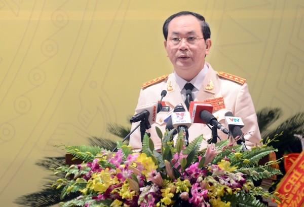 Đại tướng Trần Đại Quang phát biểu tại Đại hội