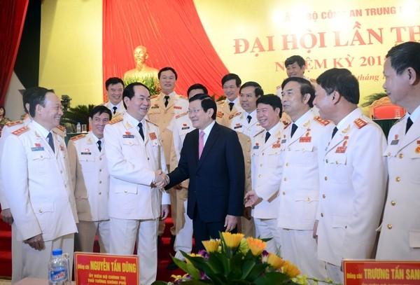 Chủ tịch nước Trương Tấn Sang chúc mừng thành công của Đại hội