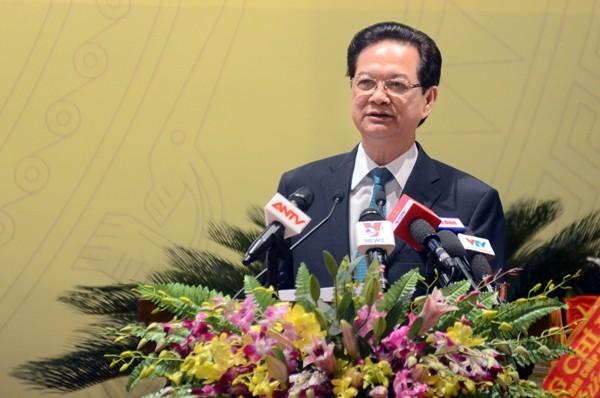 Thủ tướng Chính phủ Nguyễn Tấn Dũng phát biểu chỉ đạo Đại hội