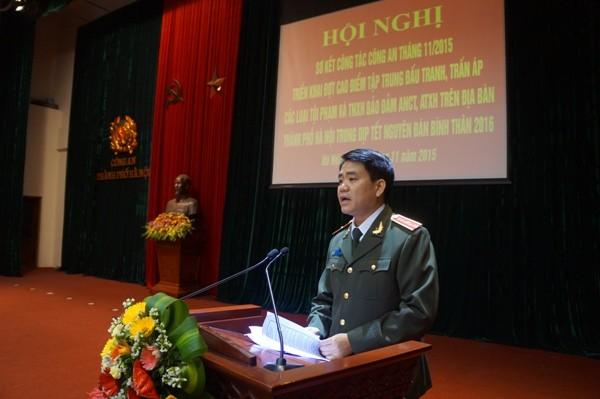 Thiếu tướng Nguyễn Đức Chung phát biểu chỉ đạo hội nghị