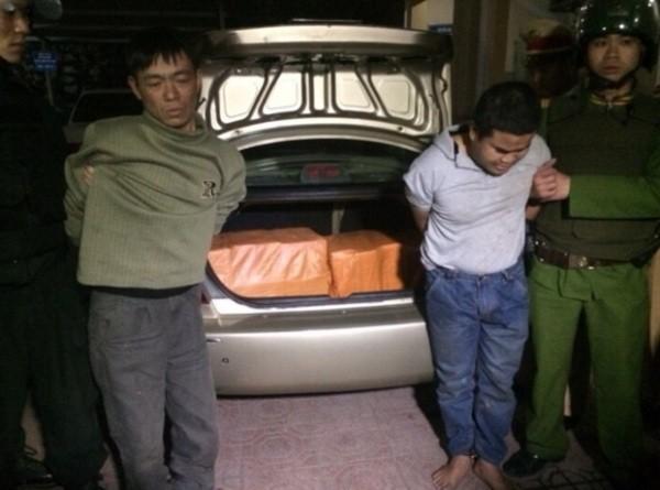 Các đối tượng vận chuyển ma túy số lượng cực lớn bị bắt giữ
