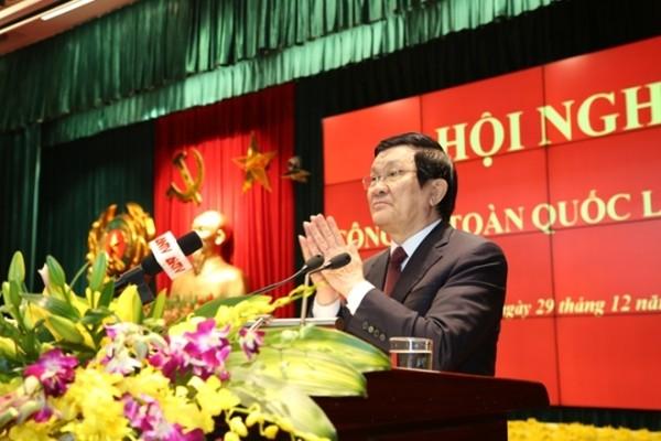 Chủ tịch nước Trương Tấn Sang ghi nhận, đánh giá cao những nỗ lực, cố gắng của lực lượng Công an