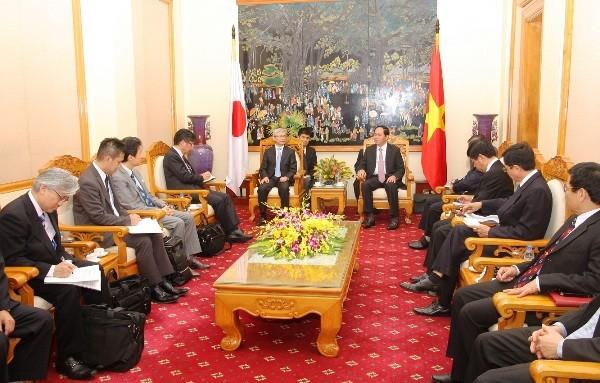 Bộ trưởng Trần Đại Quang tiếp Đoàn đại biểu lãnh đạo Tập đoàn Toyota - Nhật Bản