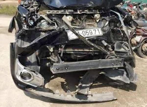 Một trong các xe ô tô liên quan đến vụ việc
