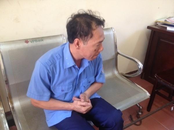 Nguyễn Quang Điệp tại cơ quan Công an