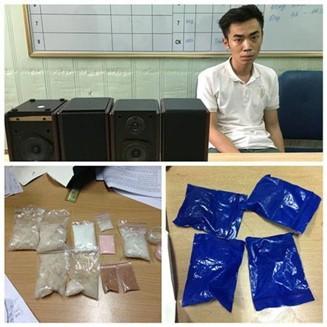 Đối tượng và tang vật 1 vụ vận chuyển ma túy qua đường hàng không bị cơ quan chức năng bắt giữ