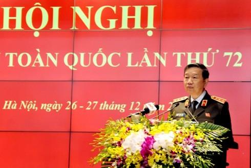 Bộ trưởng Tô Lâm phát biểu chỉ đạo tại hội nghị