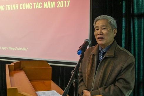 Phó Chủ tịch Thường trực Hội Nhà báo TP Hà Nội Nguyễn Viêm Hoàng mong muốn ANTĐ phát triển nhuần nhuyễn 3 loại hình báo chí hiện có