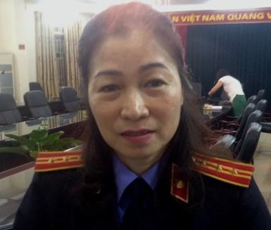 Bà Phan Thị Minh Trâm - Viện trưởng Viện KSND quận Hoàng Mai